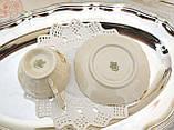Антикварная фарфоровая чайная чашка с блюдцем, Schumann & Schreider, Германия, 1950-е года, фото 7