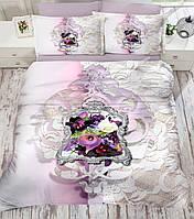Комплект постельного белья евро  3D  сатин Gokay Lifan