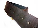 Ремень кожаный с Генеральской пряжкой латунной Тризуб, фото 2