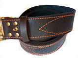 Ремень кожаный с Генеральской пряжкой латунной Тризуб, фото 3