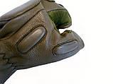 Тактические перчатки Tactical беспалые олива, фото 2