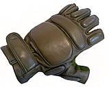 Тактические перчатки Tactical беспалые олива, фото 3
