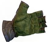 Тактические перчатки Tactical беспалые олива, фото 4