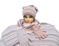 Комплект шапка,хомут и перчатки