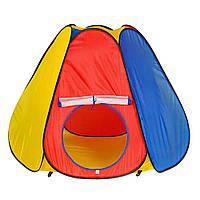 Палатка M 0506 большая пирамида, 144-244-104см, 6 граней, вход с занавеской, окно-сетка, в сумке Т