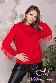 Женский теплый свитшот красного цвета (р. S, M, L) арт. Д-87-06/45106 L