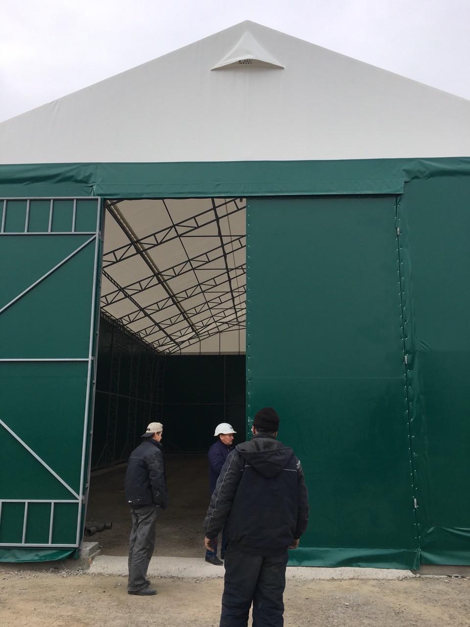 Ангари павільйони для зерна від TENT.UA, Будівництво швидкомонтованих тентових ангарів.