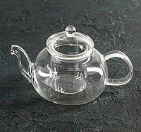 Чайник заварочный стеклянный  со стеклянным ситечком 600 мл.