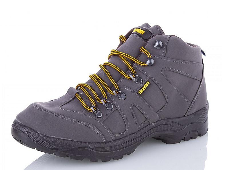 Ботинки мужские серые Demur-M8585-grey