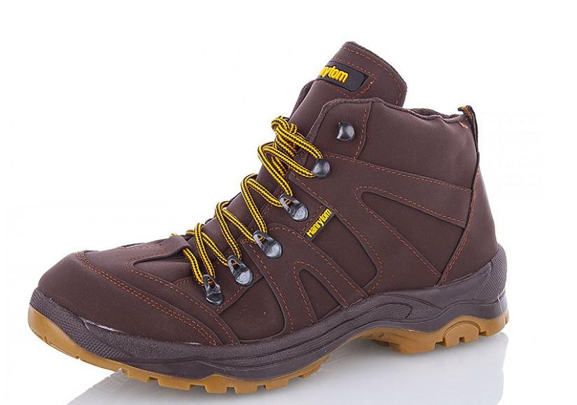 Ботинки мужские бордовые Demur-M8585-brown