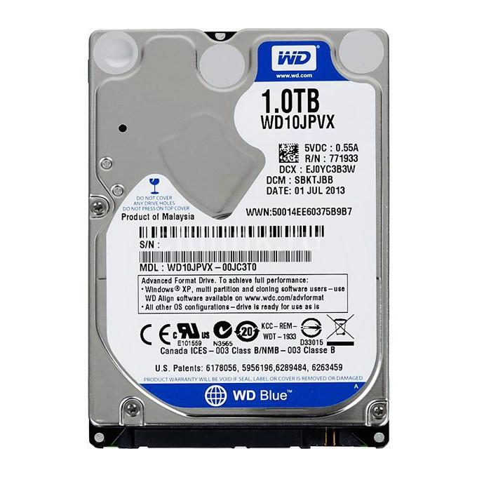 Жесткий диск 2.5 Western Digital Blue 1TB 5400rpm 8MB (WD10JPVX)