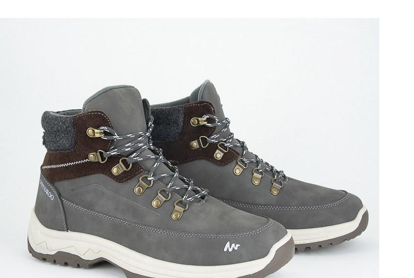 Ботинки мужские серые Violeta-142-1-grey