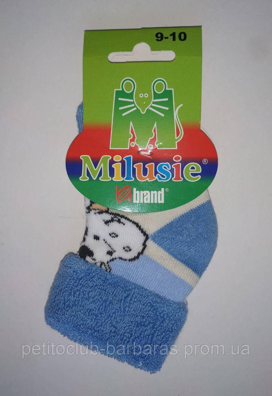 Носки махровые для новорожденных Коровка р. 9-10 (Brand,  Польша)