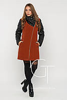 Женское зимнее  пальто с капюшоном р. 50-58