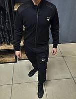 Мужской Спортивный костюм без капюшона Emporio Armani чёрный