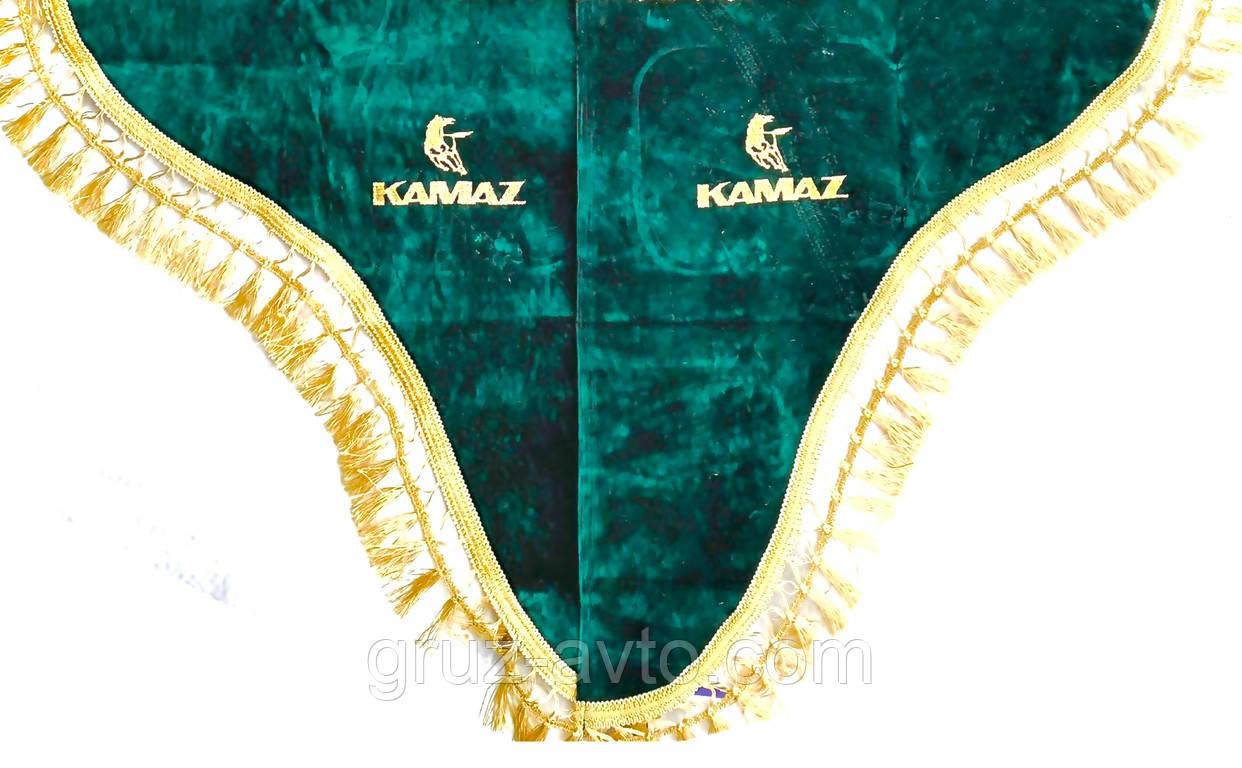 Шторки в кабіну Камаз (лобове скло-1 і бічні-2) зелений