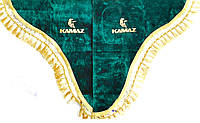 Шторки в кабіну Камаз (лобове скло-1 і бічні-2) зелений, фото 1