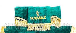 Шторки в кабину Камаз (лобовое стекло-1 и боковые-2) зеленый