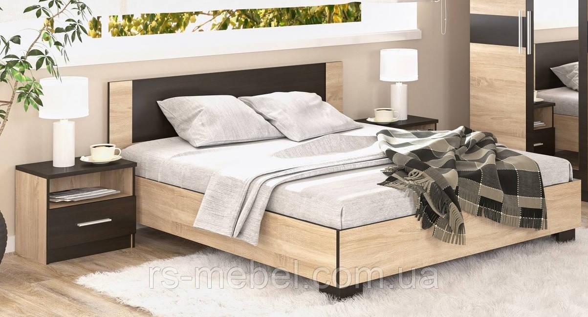 """Кровать 140 """"Вероника - дуб сонома""""  (Мебель-Сервис)"""