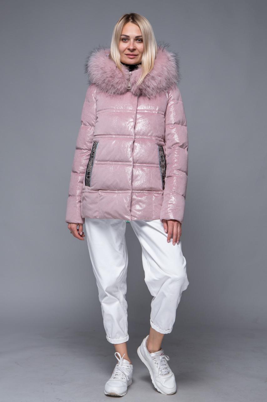 Женский пуховик ZLLY (Zilanliya) Розовый