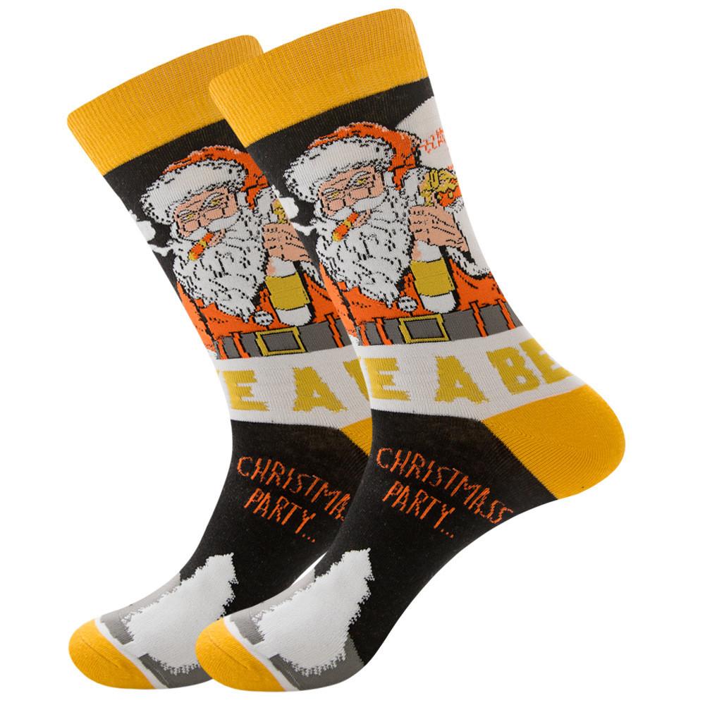 Новорічні чоловічі шкарпетки Санта Клаус