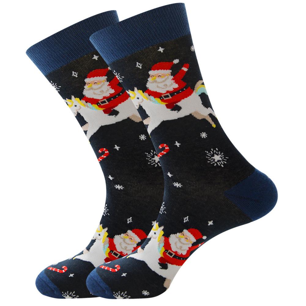 Новогодние мужские носки Санта Клаус