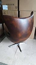 Кресло Эгг (Egg), кожа, металл, цвет коричневый, фото 2