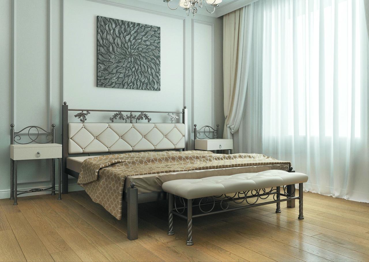 Металлическая кровать Стелла. ТМ  Металл-Дизайн