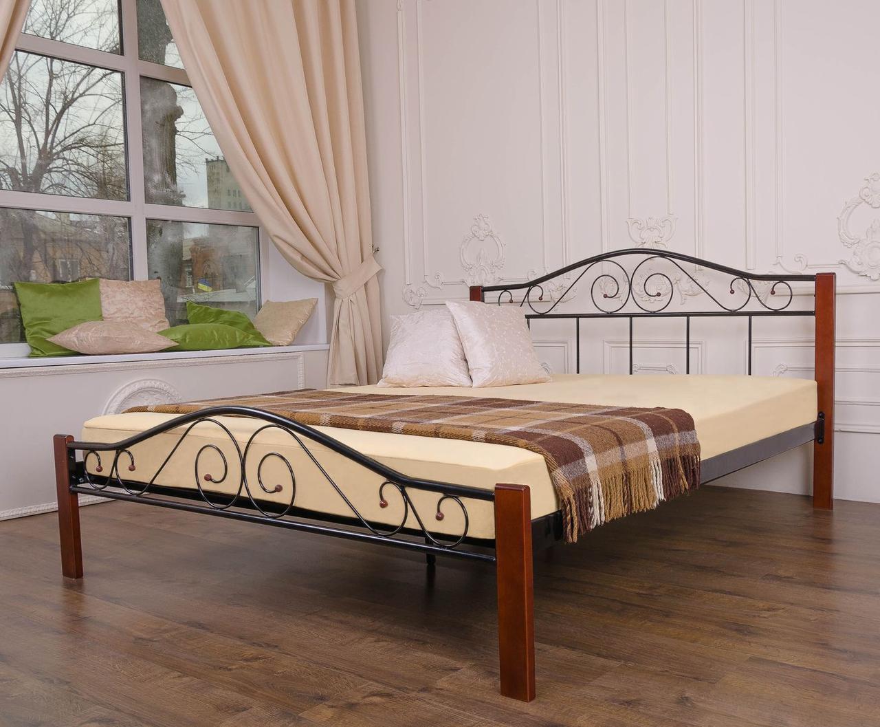 Металева двоспальне ліжко VEDERI black 160х200 ТМ EAGLE