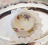Антикварная фарфоровая чайная чашка с блюдцем, Schumann & Schreider, Германия, 1950-е года, фото 2