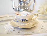 Антикварная фарфоровая чайная чашка с блюдцем, Schumann & Schreider, Германия, 1950-е года, фото 5