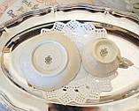 Антикварная фарфоровая чайная чашка с блюдцем, Schumann & Schreider, Германия, 1950-е года, фото 6
