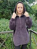 Жіноче пальто з капюшоном з вовни альпака, фото 2