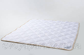 Ковдра з вовни мериносів біла класична 140х200