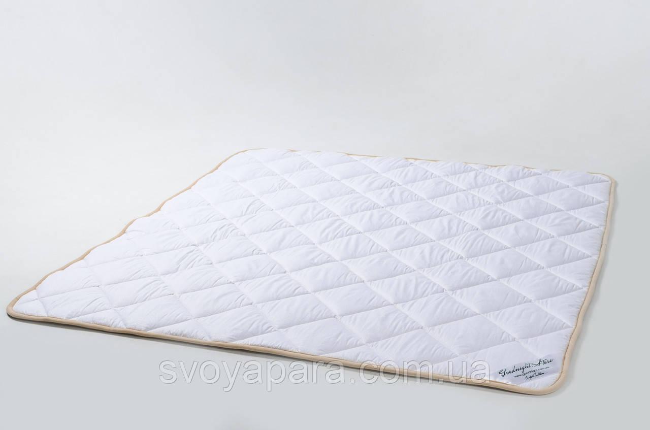 Ковдра з вовни мериносів біла класична 220х200