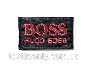 Нашивка Hugo Boss червоний 60х35 мм