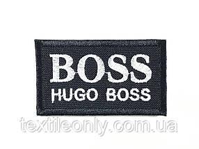 Нашивка Hugo Boss чорно білий 60х35 мм