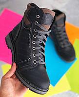 Детские зимние кожаные ботинки для мальчика, подростковые зимние кожаные ботинки на мальчика от производителя