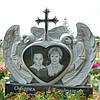 Памятник на двоих с ангелами