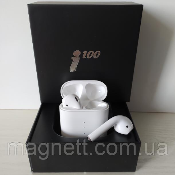 Беспроводные наушники i100 сенсорное управление с умным боксомн