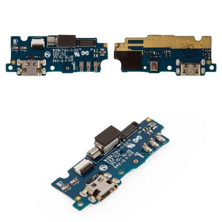 Плата нижняя (плата зарядки) Meizu M2   M2 Mini с разъемом зарядки и компонентами
