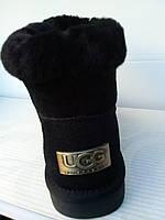 Угги женские  , укороченные , чёрные , серые натуральные  UGG . Турция . натуральная замша мягкие тёплые