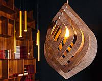 Люстра деревянная СОНЦЕ by smartwood   Люстра лофт   Дизайнерский потолочный светильник, фото 1