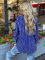 Полосатая блузка с подворачивающимся рукавом, фото 3