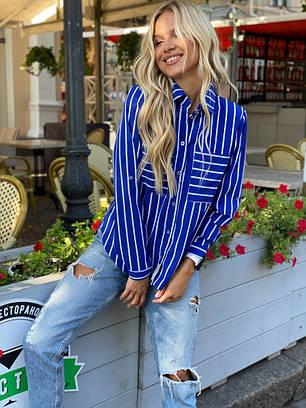 Полосатая блузка с подворачивающимся рукавом, фото 2