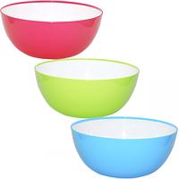 Салатник круглый двухцветный 24 * 10см / 2,95л, 3 цвета Микс