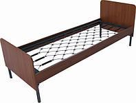 Кровать одноярусная со спинками и и боковыми панелями из ДСП