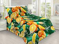 Полуторний комплект Апельсиновий, ранфорс, бавовна