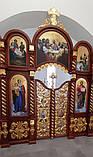 Иконостас из дерева с позолотой 7х4м с.Гарнышивка (Хмельницкая обл), фото 8