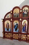 Иконостас из дерева с позолотой 7х4м с.Гарнышивка (Хмельницкая обл), фото 6